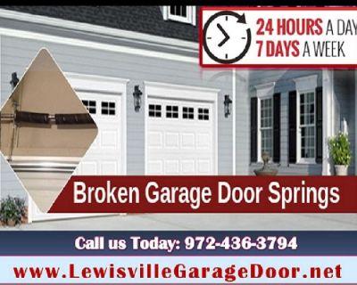 24 Hour   Emergency Garage Door Spring Repair ($25.95) Lewisville Dallas, 75056 TX