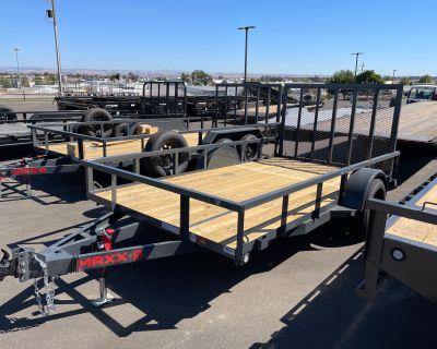 """2022 MAXXD TRAILERS 12' x 77"""" SA Trailer - Utility Paso Robles, CA"""