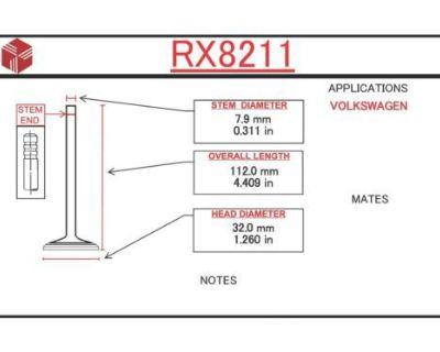 Engine Exhaust Valve 67-73 Vw Fastback Beetle Thing Karmann Ghia Squareback 1.6l
