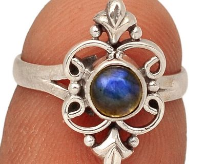 New - Labradorite 925 Sterling Silver Ring - Size 5