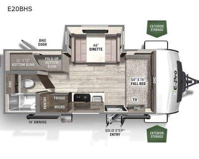 2022 Forest River Rv Flagstaff E-Pro E20BHS