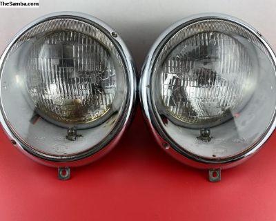 Original Hella type 2 headlights dated 12.65