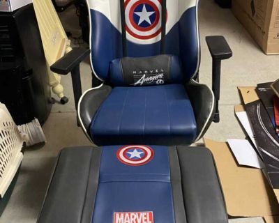 Marvel Avengers Captain America Gaming/Office Chair and Stool set