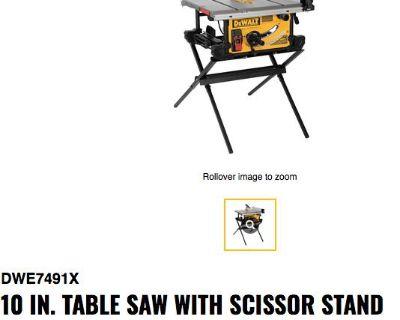 """10"""" DeWalt Portable Table Saw"""