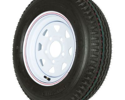 "12"" White Rim 5-lug 4.80 X 12 Trailer Wheel & 990 Lb Load Star Tire Wheel-480x12"
