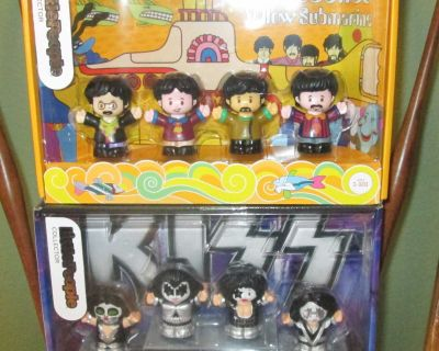 Brand New Fisher Price Collectible Little People BEATLES & KISS Figures Playsets