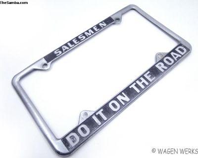Vintage License Plate Frame - Novelty Salesmen
