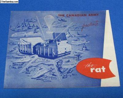 1950's Canadian Army Amphibious Vehicle Rat