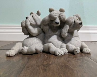 """Quarry Critters """"Uh Oh"""" bears trio"""