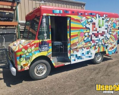 Ready to Outfit Used GMC P30 Diesel Step Van Empty Food Truck