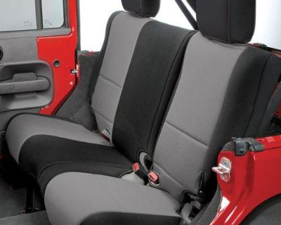Rear Seat Cover For Jeep Wrangler 07-10 Black & Gray