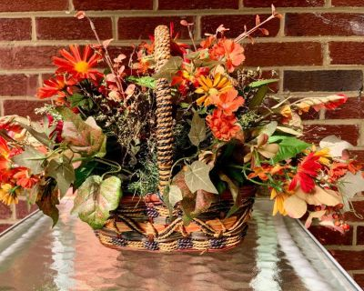 Large Autumn Floral Distinctive Basket Arrangement