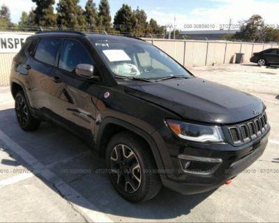 Salvage Black 2019 Jeep Compass