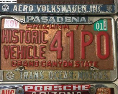 Pasadena license plate frame