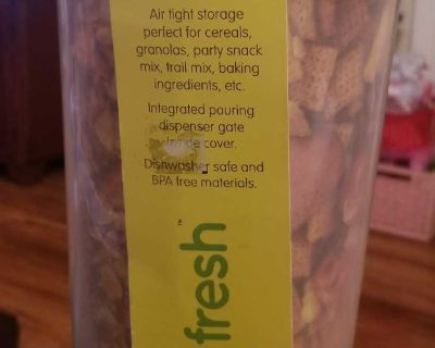 3 section Stayfresh dry food storage container