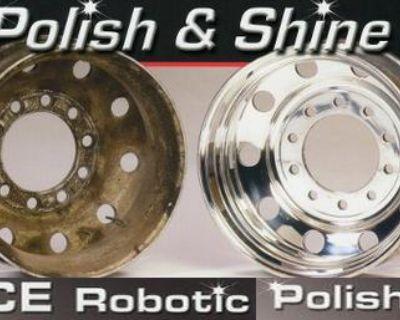 Automated Aluminum Wheel Polishing for Commercial Sized Wheels