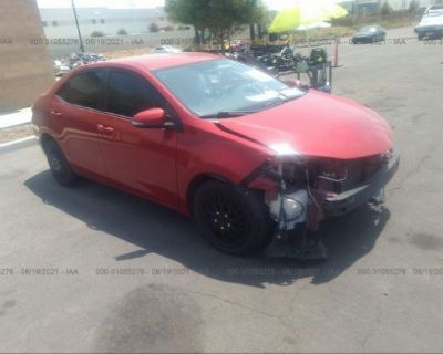Salvage Red 2015 Toyota Corolla