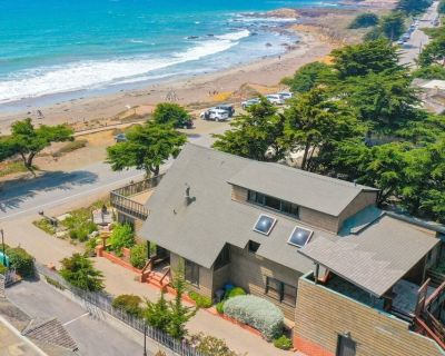 Monthly Rental! Ocean Front Beach Home on Moonstone ~ 30 Day Min - Cambria