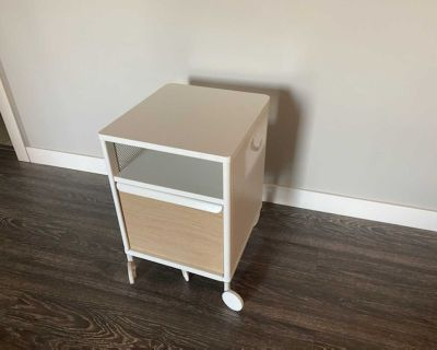 Ikea filing cabinet on casters