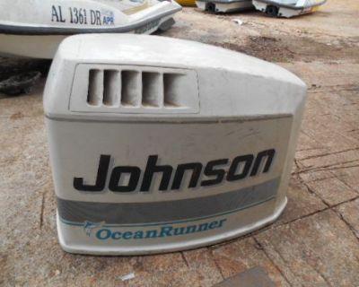 M12 Johnson 150hp V6 Ocean Runner Engine Cowling Motor Top Cover White Cowl