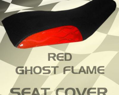 Honda Atc200 81-83 Red Ghost Flame Seat Cover #wds15085 Koj7095