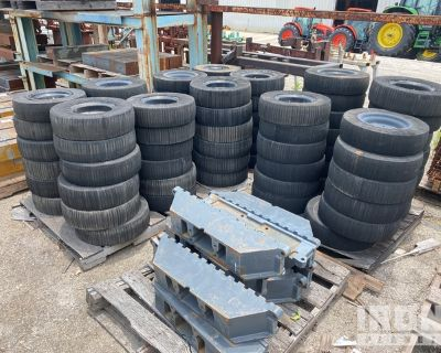 Lot of (26) Segmented Ag Tires w/Wheels