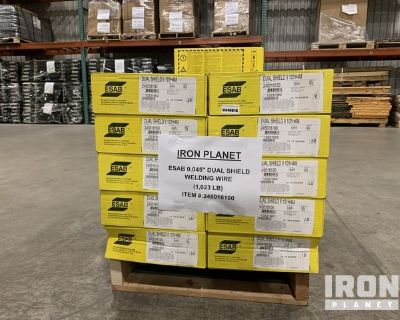 Lot of (31) Boxes of Gas Shielded Cored Welding Wire Spools
