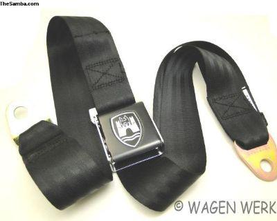 Bug Seat Belt - Black Black Front and Rear Seat