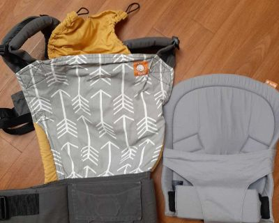Tula baby carrier with infant insert