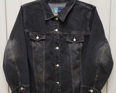 EUC Avenue Blues Denim Jacket; size 22/24