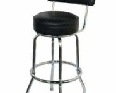 Single Ring Chrome Barstool with Back by Folding Chairs Tables Larry Hoffman