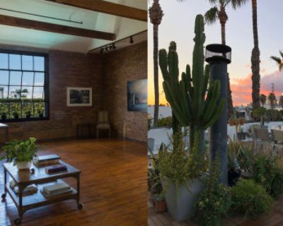 Expansive Arts District Adjacent Loft, Exposed Brick, Original Wood Floors, Private Rooftop Terrace w/ Skyline View of DTLA with freight elevator, Los Angeles, CA
