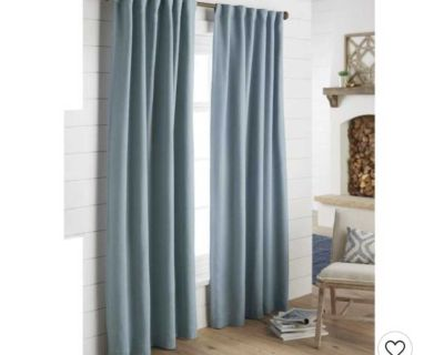 Barely used Threshold Black Curtains - 2 panels - 95 x 50 each