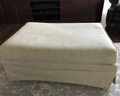 Fabric Ottoman with Wheels