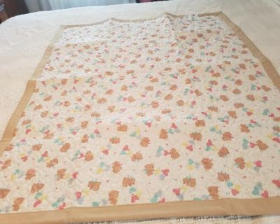 Baby Teddy Bears Crib Quilts (Have two)