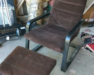 Ikea chair and footrest