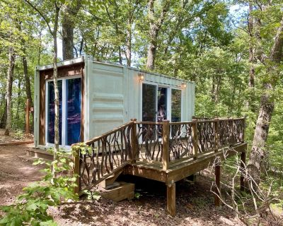 Pet-Friendly Sunrise Eco Container Cabin in the North Georgia Mountains - Dahlonega