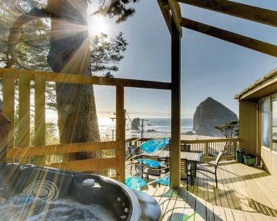 Dog-friendly home with private hot tub, easy beach access, amazing ocean views - Tolovana Park