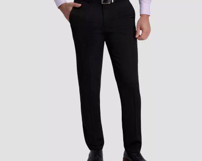 JM Haggar Premium No Iron Khaki Slim Fit Flat Front Pants Size 30W X 30L