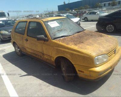 Salvage Yellow 1998 Volkswagen Gti