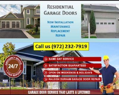 24/7 Residential Garage Door Installation   Richardson Dallas, 75081 TX
