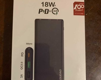 Great portable power bank (Apple PD/power delivery compatible)