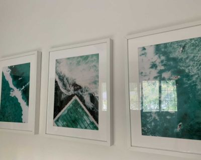 Picture frames with ocean images