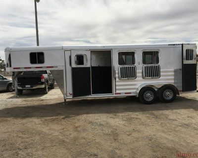 Three Horse Gooseneck Trailer, Aluminum Horse Trailer, Featherlite 3 Horse Trailer 8533-673H