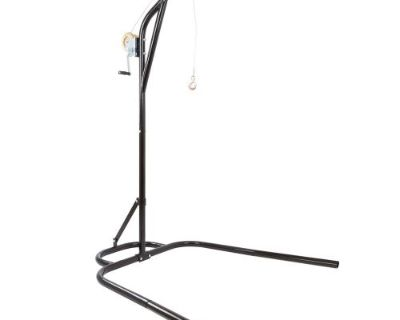 """Black Ice Snowmobile Hoist Stand 60"""" Sled Lift Height 250 Lb Winch Sno-fs-lift"""