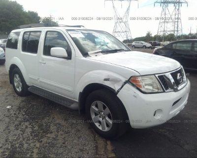Salvage White 2008 Nissan Pathfinder