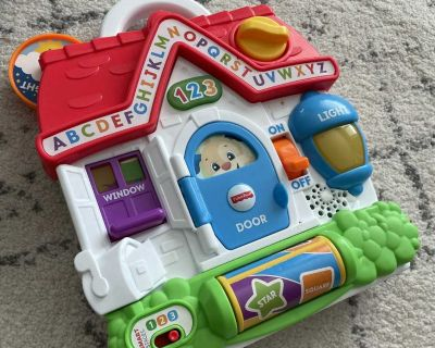 EUC Fisher-Price Laugh & Learn Puppy's Busy Activity Home