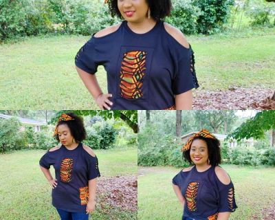Ankara Custom made T-shirt/ free gift