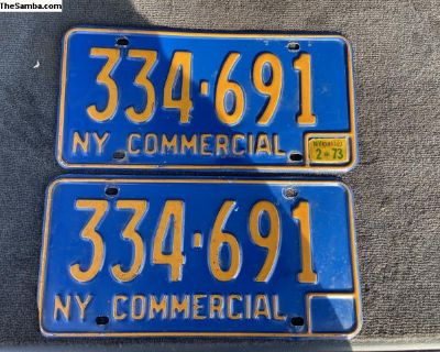 1966-73 Commercial Pair of NY License Plates