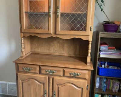 Vintage hutch, table, and chairs